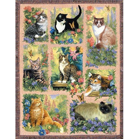 52642 Cat Afghan 1000pcs by Unknown by Unknown