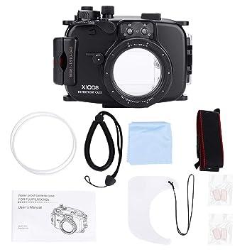 Senyar - Carcasa Impermeable para cámara Fuji Fujifilm X100S (40 m ...