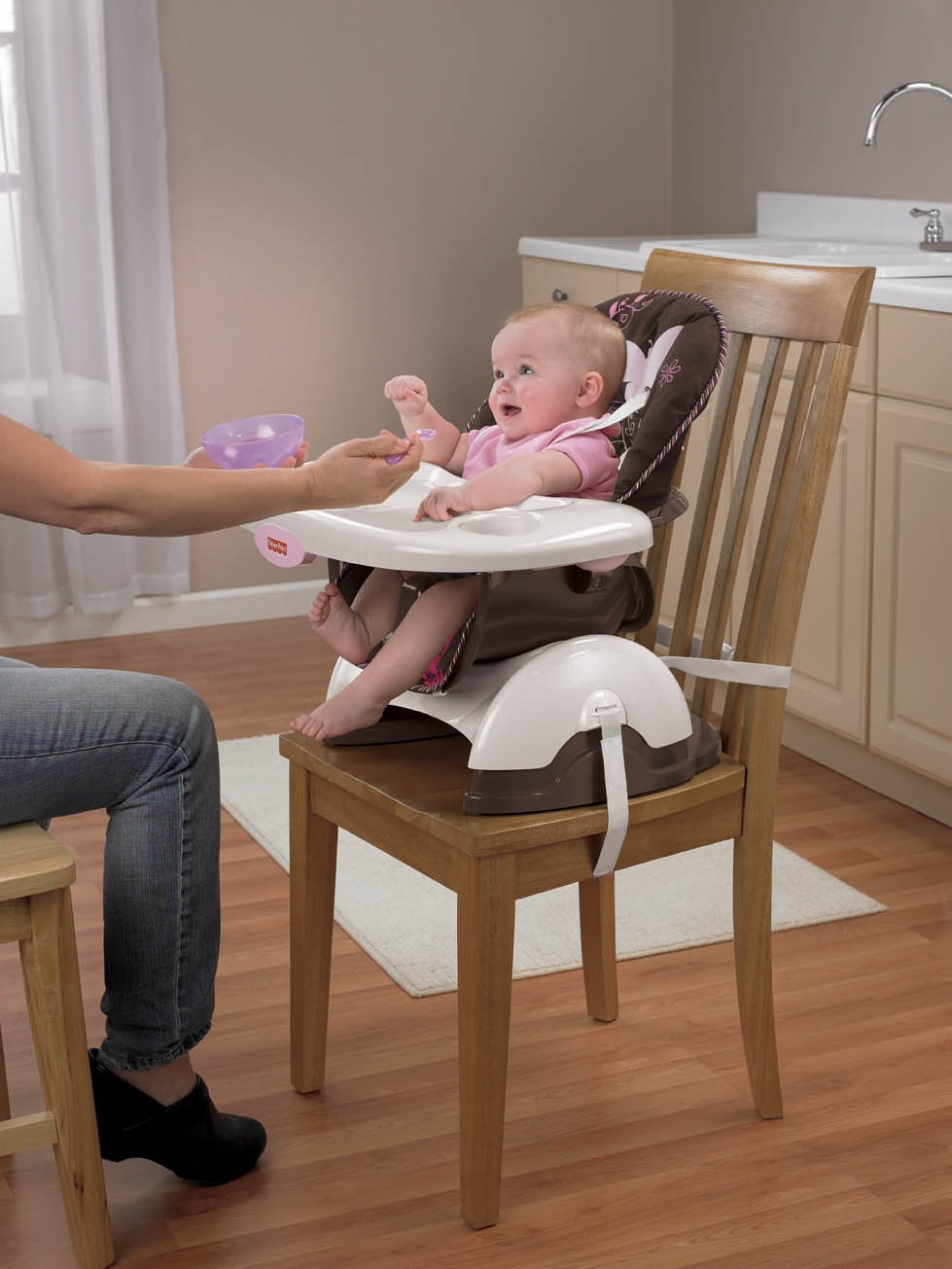 Amazon.com : Fisher-Price Space Saver High Chair, Mocha Butterfly ...