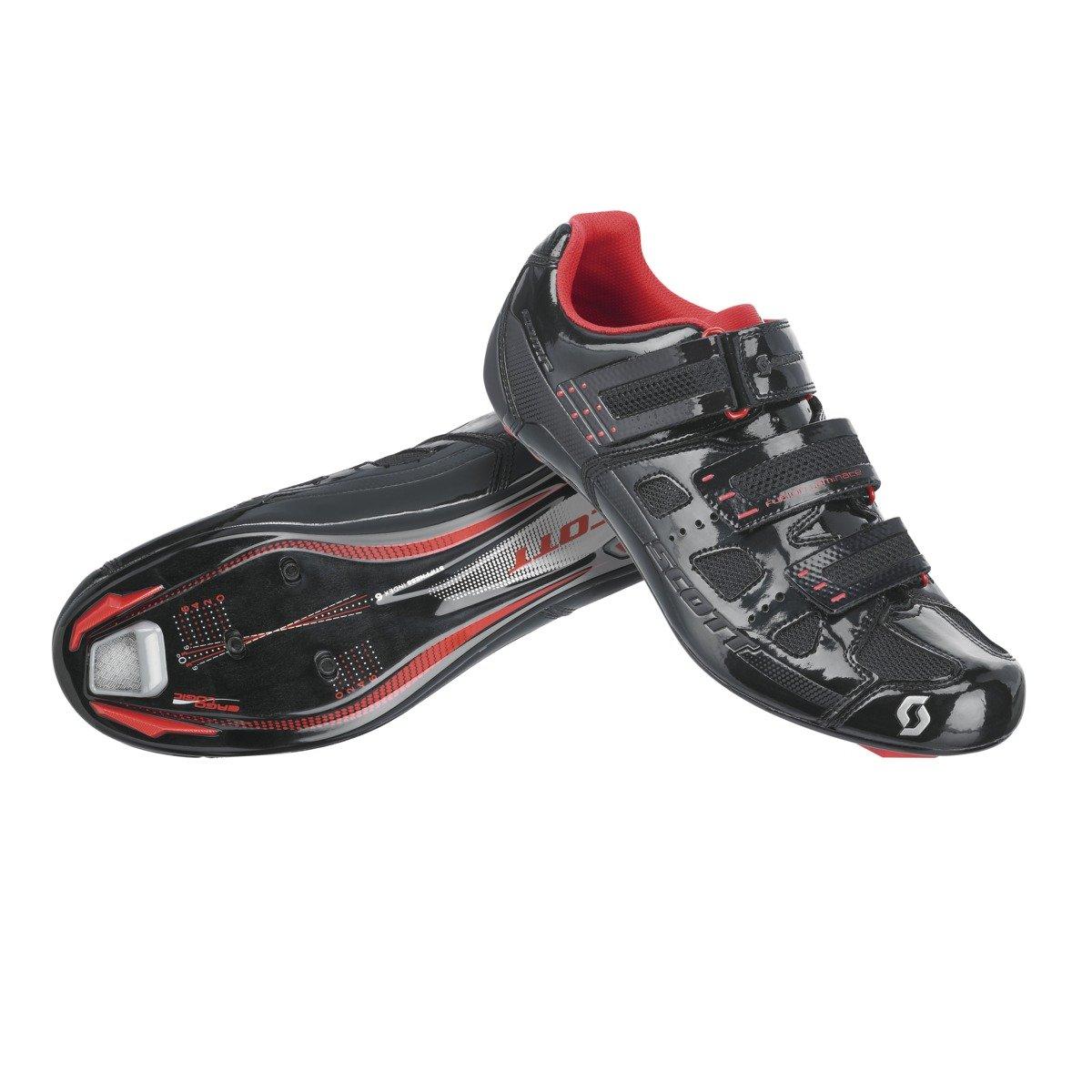 SCOTT(スコット) バイクシューズ Road Comp ブラックグロス、レッド B014I91LVK EUR43/27.5cm