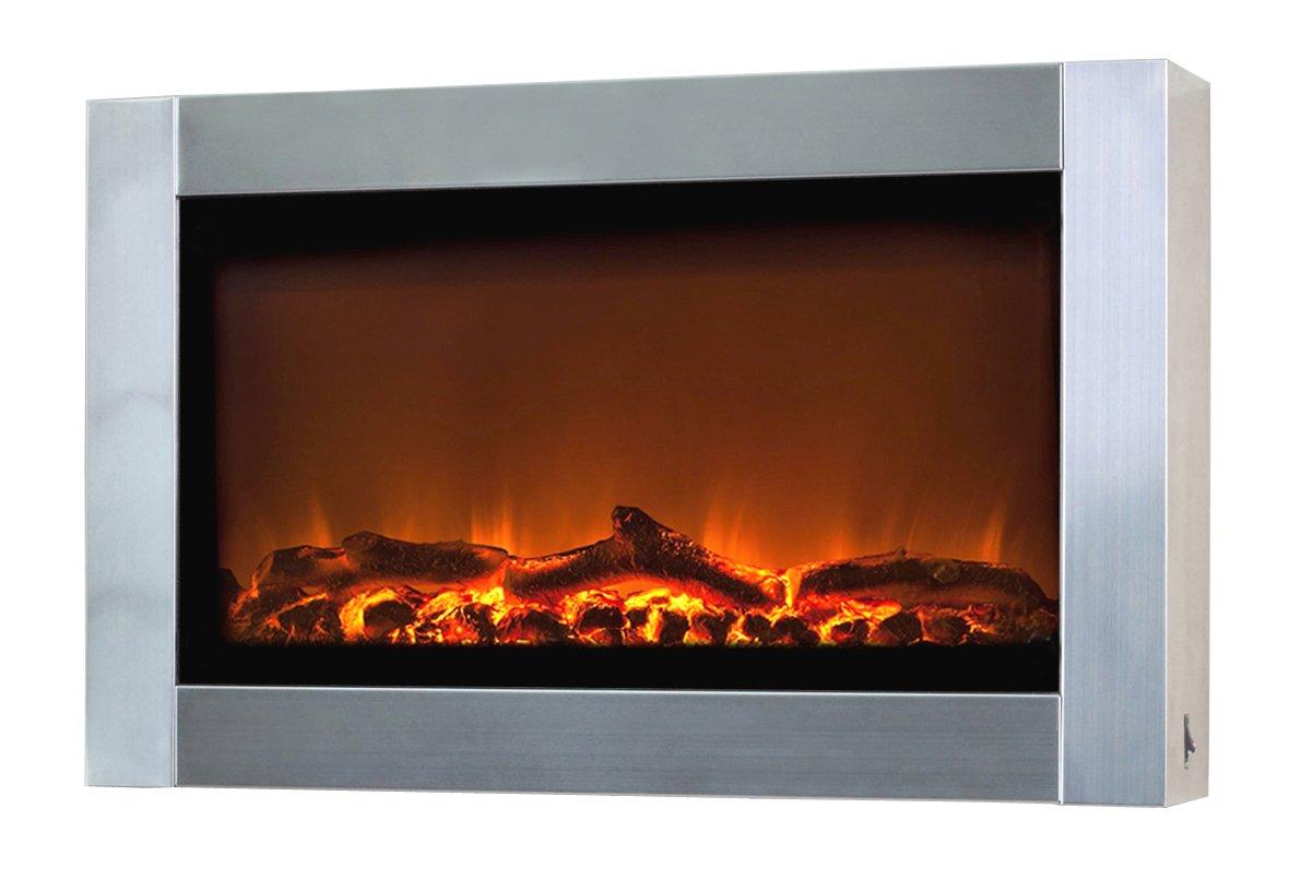 amazoncom fire sense stainless steel wall mounted electric  - amazoncom fire sense stainless steel wall mounted electric fireplacehome  kitchen