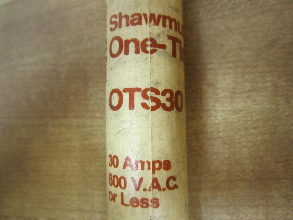 new Shawmut OTS-30 One Time Fuse OTS30