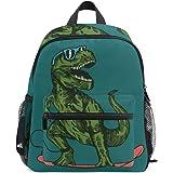 Kids Backpack Skateboard Dinosaur for Toddler Boy Girls Age 3-7