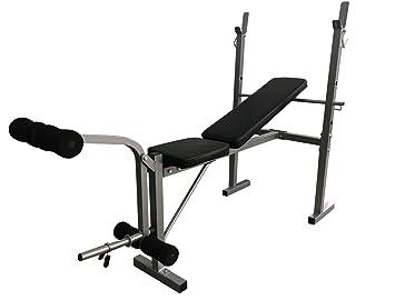 Entrenamiento Con pesas Bench Multi-gym Plegable Inclinación Ajustable Gimnasio Fitness Bench con Extensión De La Pierna: Amazon.es: Deportes y aire libre