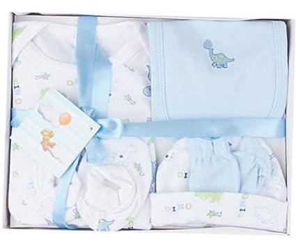 Cajita Ropita Recién Nacido 5 Piezas 100% algodón Azul Talla 0-6 ...