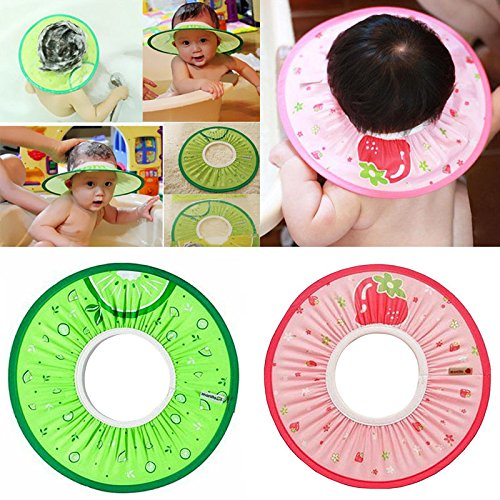 NPLE--[Manito Shampoo Cap] Baby Kid Child Adult Shampoo Bath Shower Cap Hat Wash Hair (Pink)