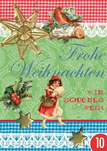 Pack de 10: Postal A6 + + + Navidad de Modern Times + + + feliz ...