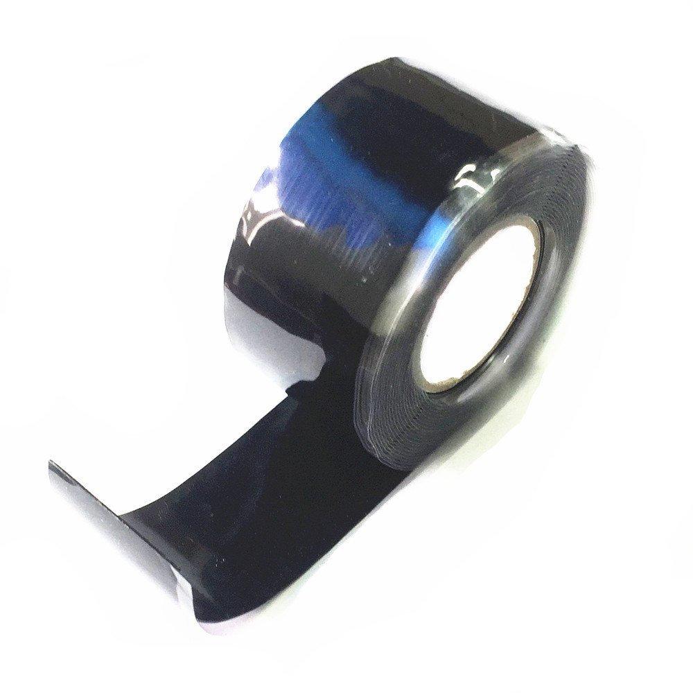 3m x25mm schwarz Qiorange Selbstklebendes Abdichtband Silikon Tape 3m x25mm selbstverschweissendes Reparaturband Reparaturtape Silikontape Silikonband