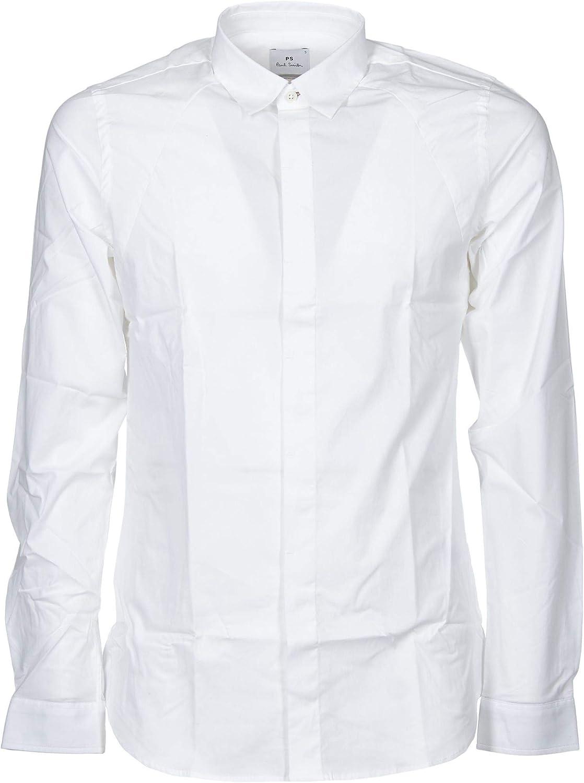 Paul Smith Luxury Fashion Hombre M2R367SA200401 Blanco Camisa   Temporada Outlet: Amazon.es: Ropa y accesorios