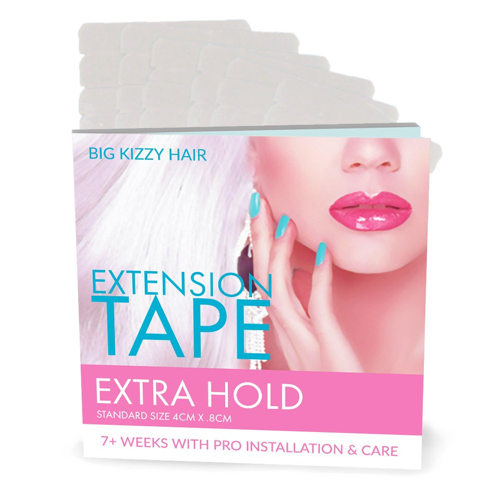 Hair Extensions Tape EXTRA Hold Fits Most Tape in Hair Extensions, 4cm x .8cm Tape for Extensions, Professional Double Sided Extension Tape