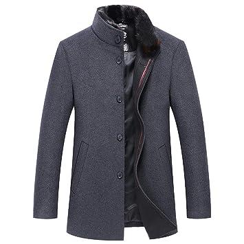 Abrigo gris para hombre