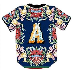 Pizoff Short Sleeve Arc Bottom Baseball Team Jersey 3D All Over Luxury Gold Floral Snake Bees Print Basketball Shirt Hip Hop Dance V-Neck Button Down Tops Y1724-63-S