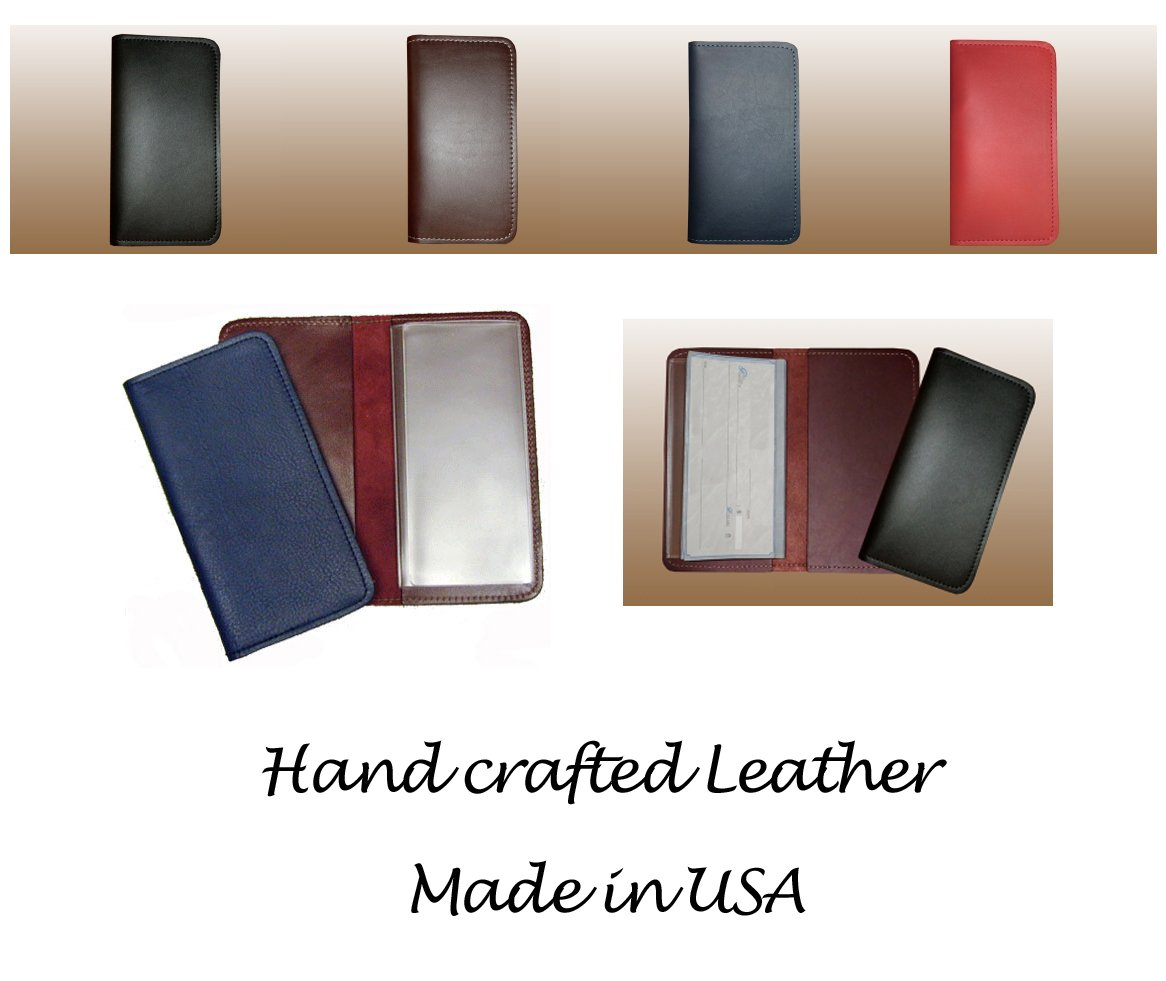 Leather Checkbook Cover Wallet for Duplicate Checks North Star NS132