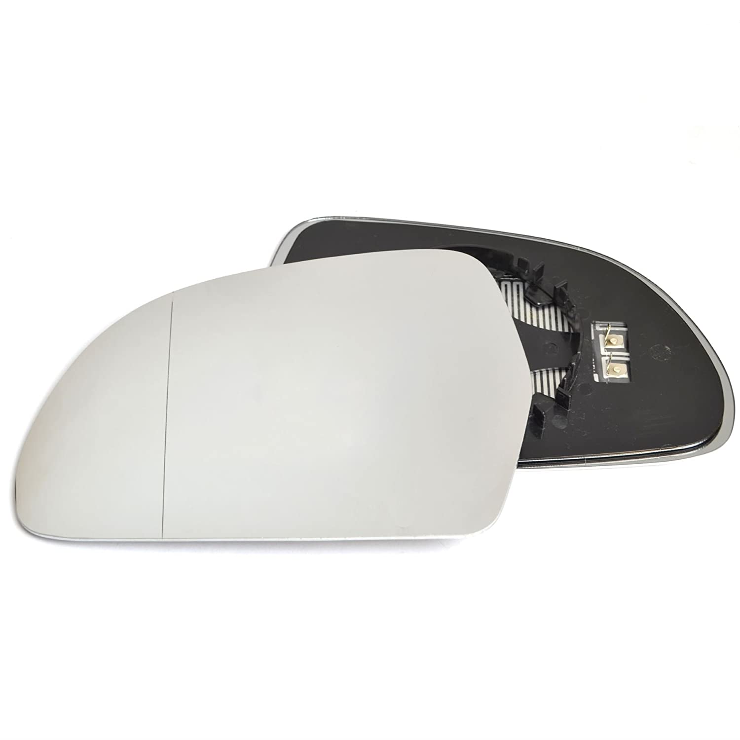 Passenger left hand side Heated wing door Silver mirror glass with backing plate #W-SHY/L-AIA308 [Clip On] Sylgab
