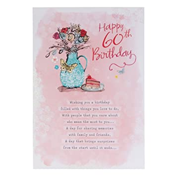 Hallmark 60th Birthday Card For Her The Perfect Day