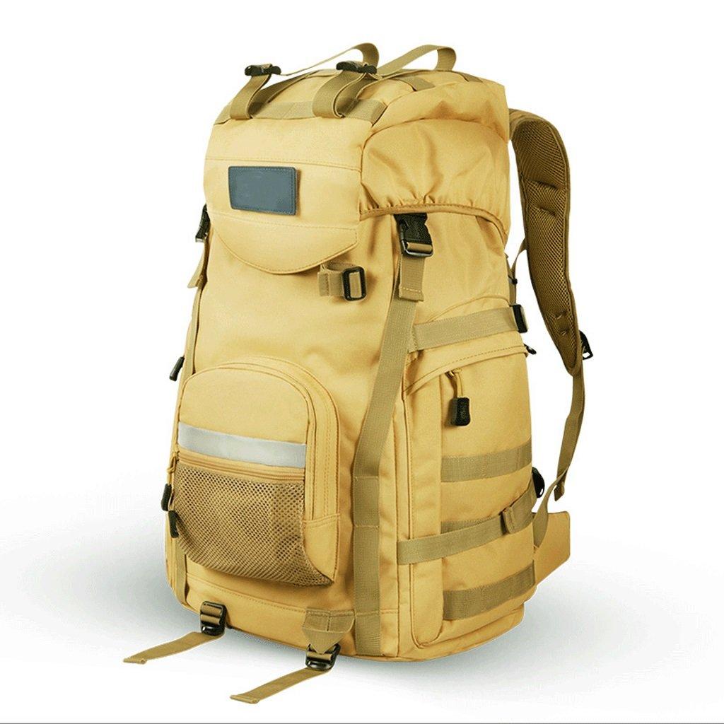 GJバックパック – 男性と女性に足多機能バックパック旅行バッグRidingバックパックアウトドアバックパック B07FC4H7FK ライトブラウン