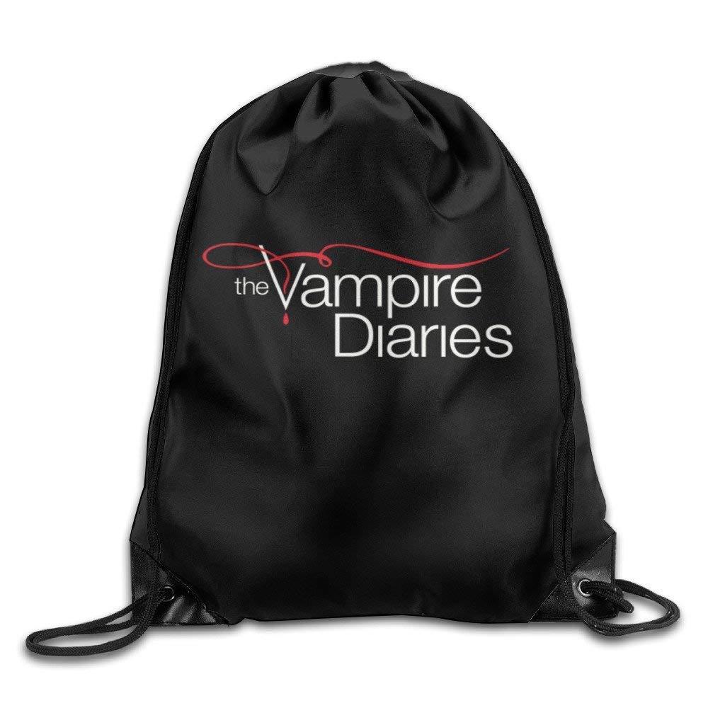 Dhrenvn The Vampire Diaries Drawstring Backpack Sack Bag For Gym