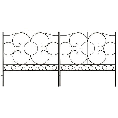 amazon com gray bunny gb 6885 landscaping garden fence set of 5