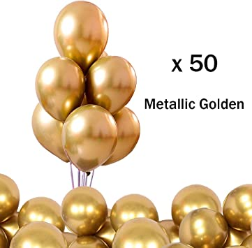 O-Kinee LAKIND Globos Metalizados 50-Pack Globos Metalicos Globo ...