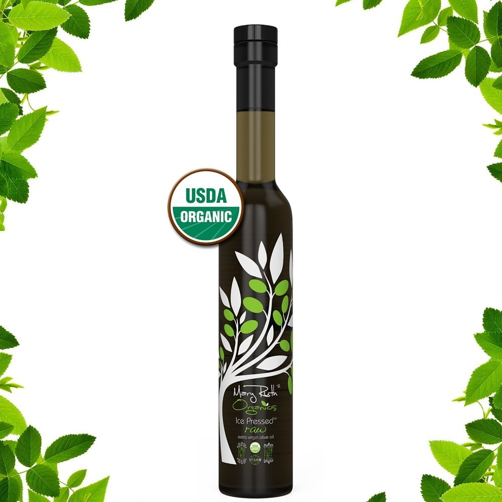USDA Organic ICE PRESSED Extra Virgin OLIVE OIL (Ice Pressed is 30x Colder Than Standard Cold Pressed Olive Oil) Paleo, Vegan, Gluten Free, USDA Organic, RAW