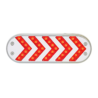 Grand General 77127 LED Light (Oval Red Sequential 5-Arrow Spyder 35, Clear Lens), 1 Pack: Automotive