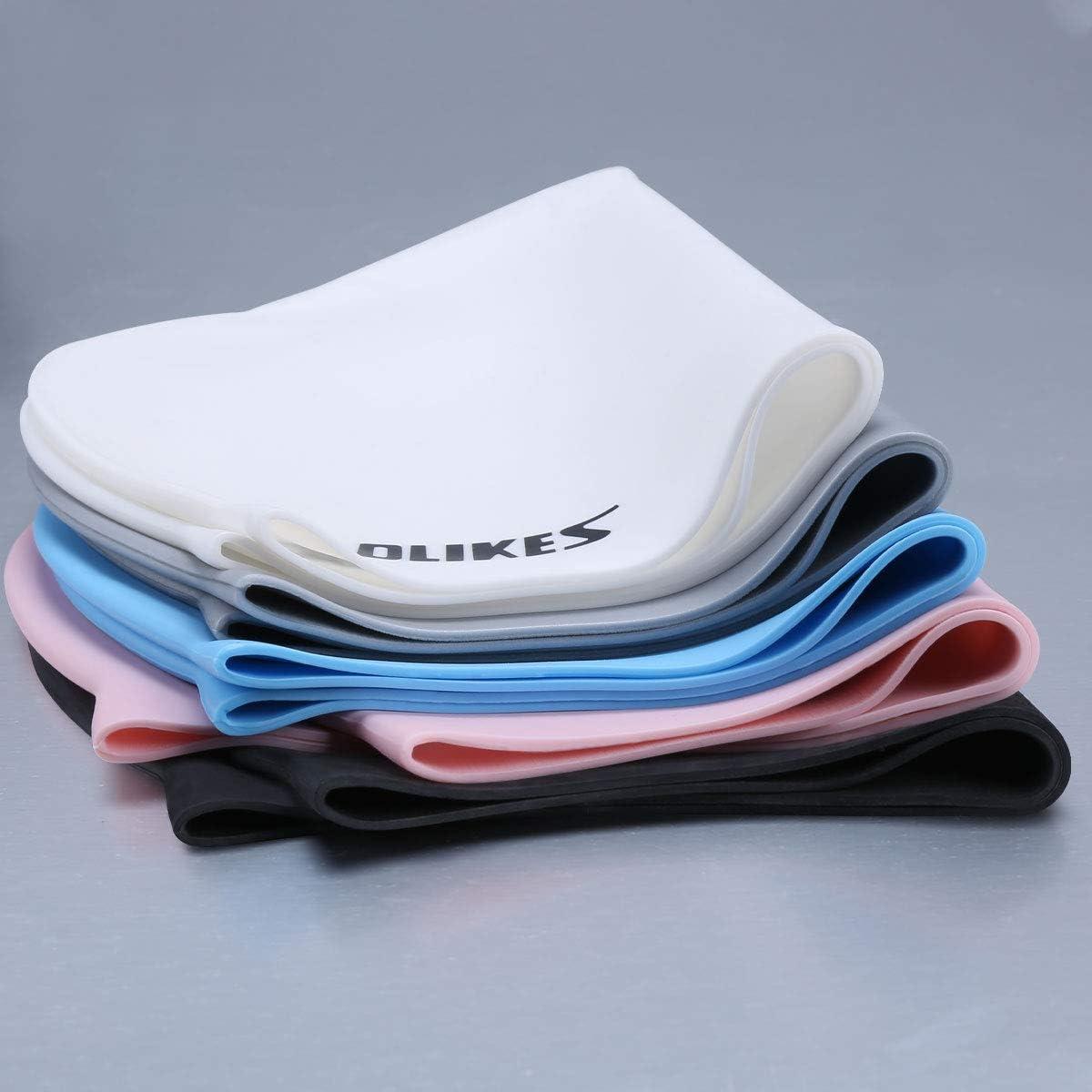 Waterproof Premium Silicone Swimming Caps for Men Women Short Medium Long Hair