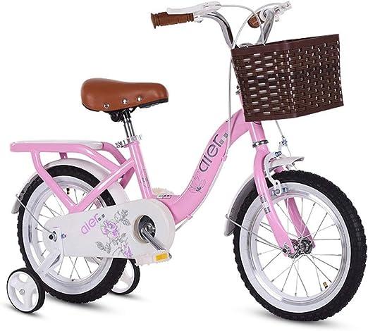 SGMYMX Bicicleta para niños Bicicleta for niñas Pink Princess Bike ...