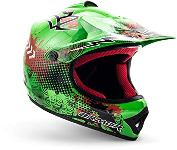 "Armor · AKC-49 ""Green"" (green) · Casco Moto-Cross · NINOS Off-Road Enduro Quad Scooter Racing motocicleta · DOT certificado · Click-n-Secure™ Clip · ..."