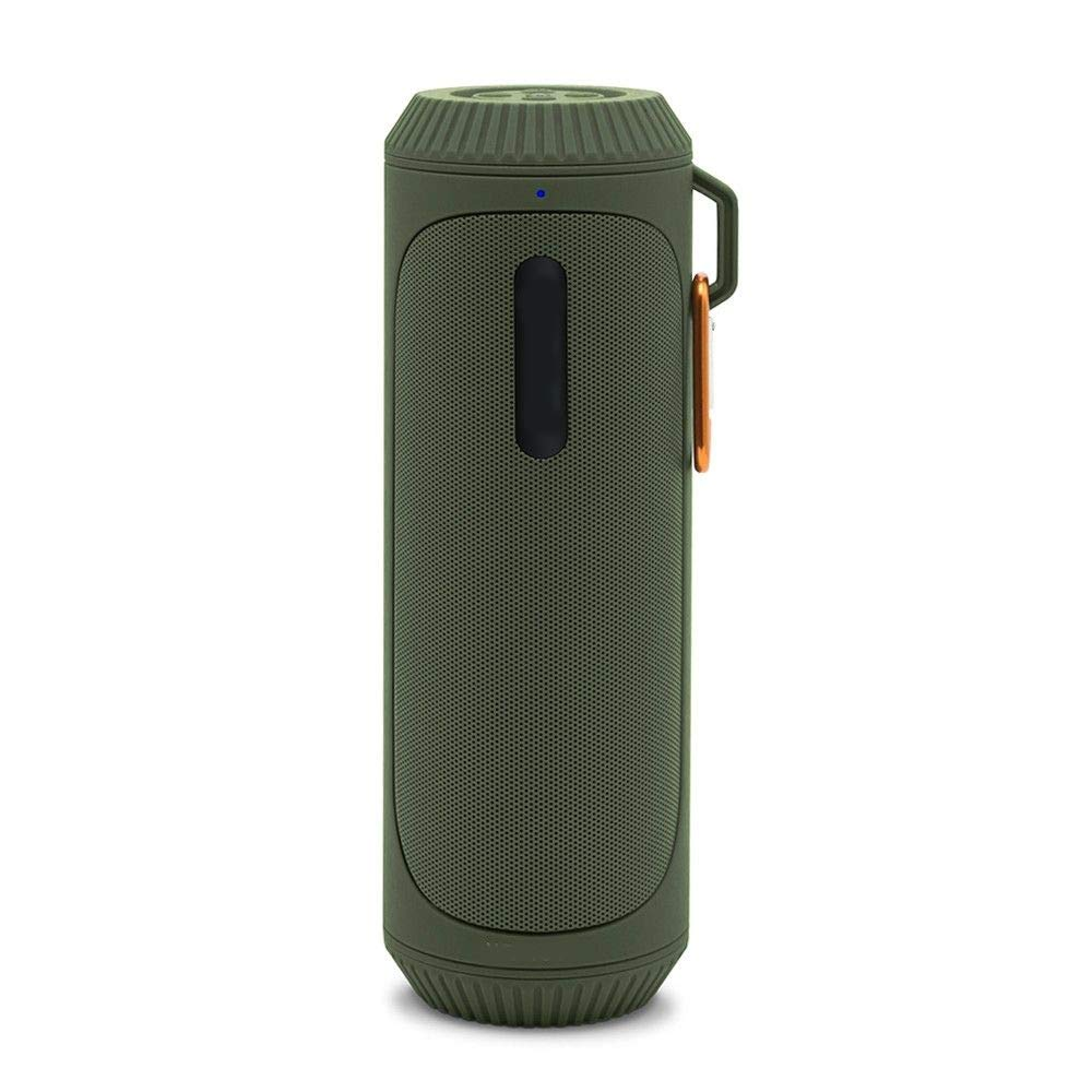 TIAOTIAO スマートスピーカー 超ポータブルスピーカー 6時間再生 低音強化 アウトドアウォータースプラッシュBluetoothスピーカー LEDライト付き グリーン 946-189  グリーン B07LG8PLCF