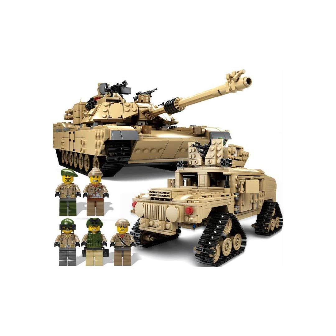 SXZHSM-Intellectual development toy Tank Building Blocks, Assembling Puzzle, Freely Inserting Children's Building Blocks Toy 15x36x12cm