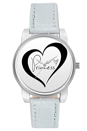 BigOwl Princess For Lovers Analogue Faux Leather White Dial Women's Watch