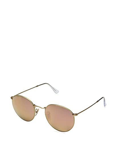 e9e3cada8110ab Ray-Ban Unisex s Rb 3447 Sunglasses, Gold, 53  Amazon.co.uk  Clothing