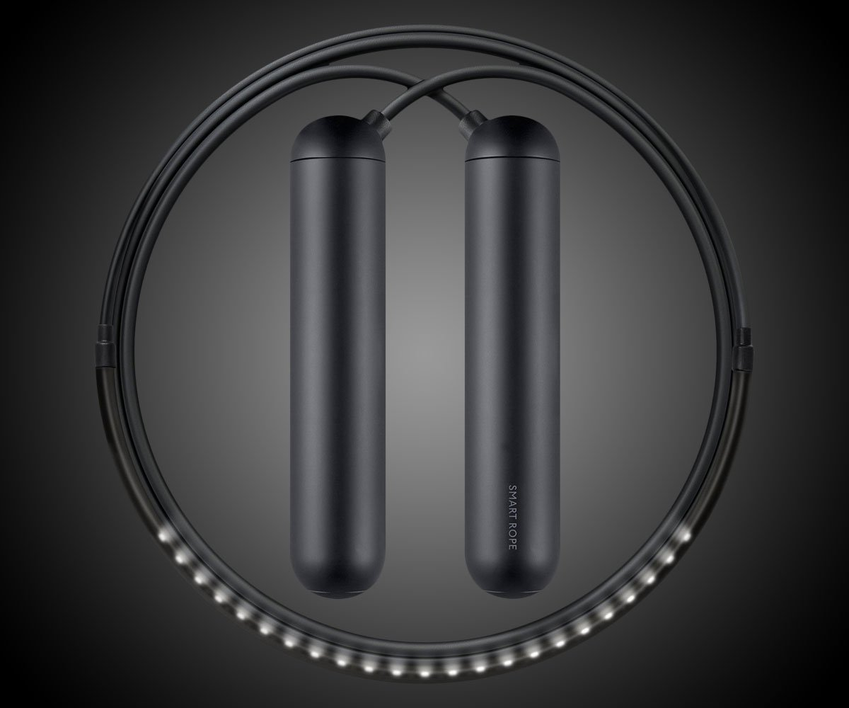 TANGRAM Factory Smart Rope - LED Embedded Jump Rope (Black, Small) by TANGRAM (Image #3)