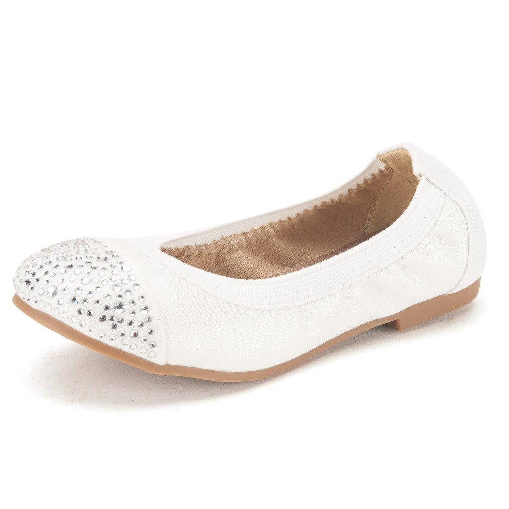 DREAM PAIRS Girls Flexsole Summer Ballet Flats Comfortable Slip On Elastic Ballerina Shoes Toddler//Little Girl