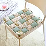 Cozyhouse Square Soft Decorative Lace Floral Chair Pads Seat Cushion Tatami Mat with Tie Anti-Slip for Home Office Car 40cm