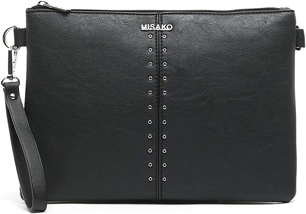 MISAKO Bolso Pequeño de Mujer GALINA - Bolso de mano y bolso bandolera - Estilo Elegante en Polipiel - 1x30x21cm