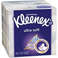 Kleenex Ultra Soft Facial Tissues, 1 Cube Box, 65 Count (Pack of 1)