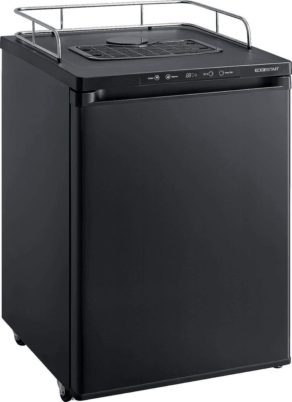 EdgeStar BR3002BL 24 Inch Wide Kegerator Conversion Refrigerator for Full Size Keg – Black