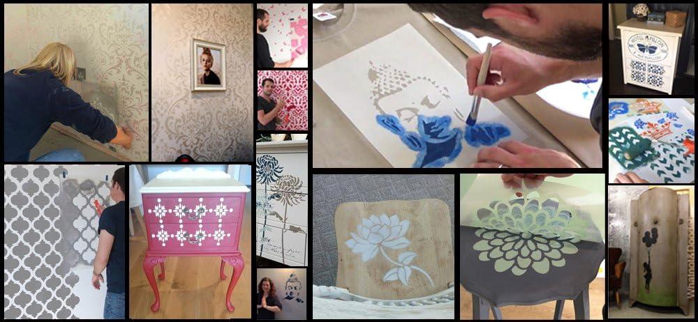 XXL// 77X94CM semi transparent pochoir MADONNA pochoir r/ép/étables mural de maison d/écor /& ART POCHOIR PEINTURE SUR MESURE d/écoration sur murs,Fabrics meuble et plus