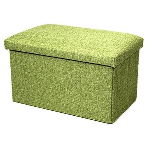 Tela de lino plegable taburete de almacenaje banco asiento ...