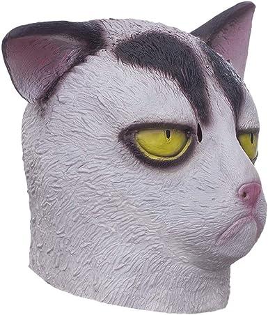 cat mask adult costume funny mask funny costume pop culture animal costume cat costume adult mask animal mask Grumpy cat mask