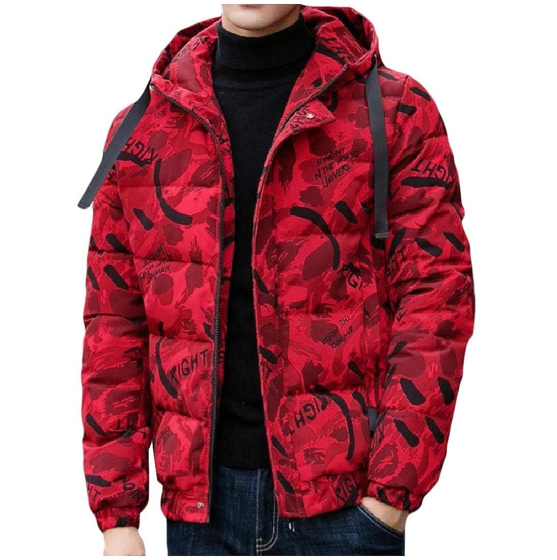 Winwinus Men Hoodie Coat Outwear Casual Puffer Padded Brumal Anorak Jacket