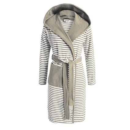 54217df35f Esprit Striped Hoodie Accappatoio - marrone - S: Amazon.it: Casa e cucina