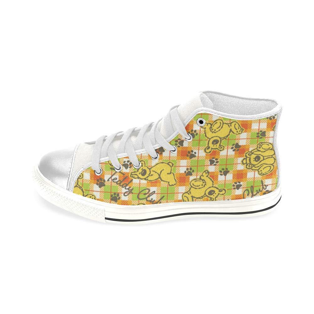 INTERESTPRINT Teddy Bear Club Aquila High Top Canvas Shoes for Big Kids Boys Girls