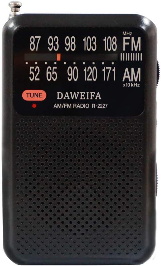 Radio Am FM, radios portátiles alimentados por batería con Antena para la Mejor recepción y la más Larga duración, Radio portátil con Altavoz ...