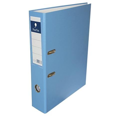 Archivador PRAXTON Pastel Azul, Folio Ancho 70 mm.