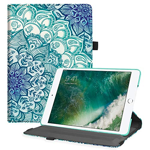 Fintie iPad 9.7 2018 2017 / iPad Air 2 / iPad Air Case - Multiple Angles Stand Smart Protective Cover with Auto Sleep Wake for iPad 9.7 inch (6th Gen, 5th Gen), Emerald Illusions