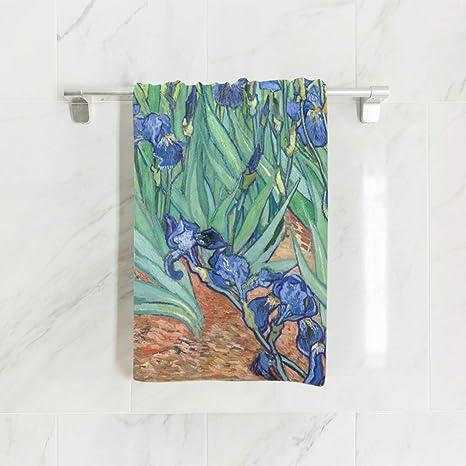 Ahomy Toallas de Mano, 38 cm x 76 cm, Van Gogh Irises Multiusos,