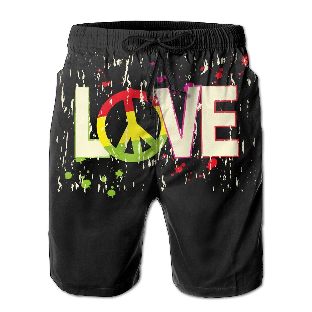 ZAPAGE Boys Quick Dry Board Shorts Love Beach Board Shorts With Pockets