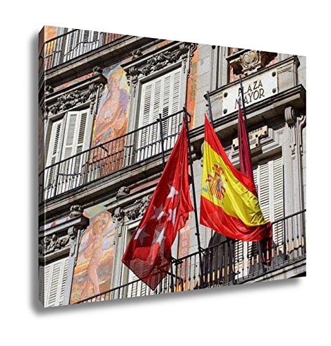 Ashley Canvas, Detail Of A Decorated Facade And Balconies At The Palza Mayor Madrid Spain, Home Decoration Office, Ready to Hang, 20x25, AG5528425 by Ashley Canvas